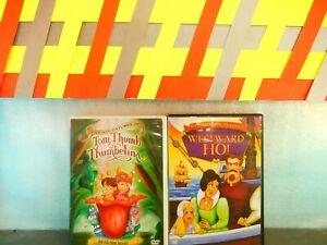 Lot Of  2 Thumbelina /  Westward Ho !  (DVD,