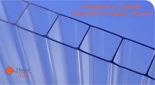 Decor-Italy Lastra in Policarbonato Alveolare a 2 Pareti con Protezione UV 3000x1050x10mm - Transparente