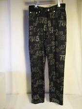 pantalon vintage KENZO noir motifs gris 36
