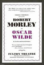 "Robert Morley ""OSCAR WILDE"" Leslie & Sewell Stokes 1938 Broadway Flyer"