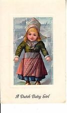 CF09.Vintage Postcard.A Dutch baby girl.