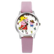 Reloj de Cuarzo Lindo Niños Peppa Pig Correa Rosa