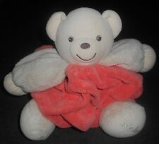 38f84cf915e8 Doudou Ours Plume Blanc Orange Rouge Saumon 27 cms Kaloo TBE
