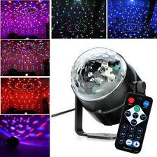 LED RGB DJ Disco Magic Ball Crystal Xmas Party Stage Lighting w/ Remote Control