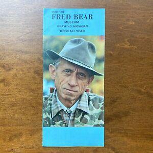 Fred Bear Museum Grayling Michigan Brochure Vintage Bear Archery