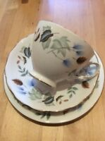 Colclough Bone China - Linden 8162 Pattern - Trio  Cup, Saucer, Side Plate 8182