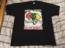 "Vintage Nelson Mandela ""From Prison To President"" T-Shirt Size XL - Rap Hip Hop"