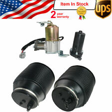 Air Suspension Compressor & Rear Spring Kit For Toyota 4Runner Lexus GX460 10-18