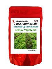 8 Lettuce Variety Seed Pack Kit Heirloom Fresh Emergency Home Survival Garden