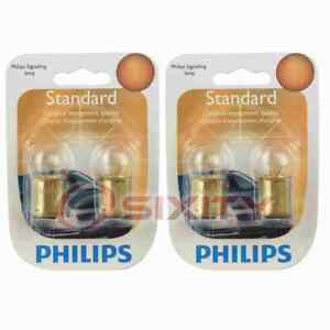 2 pc Philips License Plate Light Bulbs for Chrysler 300 Conquest Imperial wi