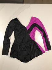 Black And Pink Figure Skating Competition Dress Adult Small Roni Swiss Original