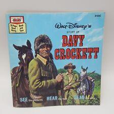 Walt Disney Davy Crockett Sound Story Cassette Paperback Book Read Along 31DC