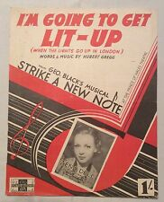Vintage sheet music I'm Going to Get Lit Up - Zena Dell cover 1953