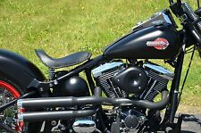 Black Santee Double Barrel Chopper High Exhaust Pipes 2012- 2017 Harley Softail