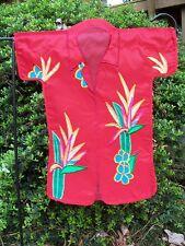 "Hawaiian Shirt Red applique Shaped Tropical Party Garden Flag ~12""x18"""
