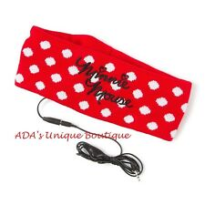 Minnie Mouse Disney Red Polka Dot Earphone Headwrap Headphones New