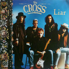 "7"" 1990 ROCK MEGA RARE MINT- ? ! THE CROSS : Liar"