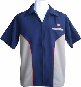 Mens Zip Shirt Retro Skate Design shirt Collar Manga Clubbing Surf T-Shirt XL