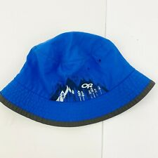 OR Outdoor Research Kids Boy Girl Medium 3-6 years Bucket Hat Sun UPF 50+ Blue