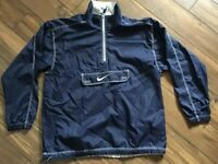 Nike Pullover Windbreaker Navy Blue Half Zip Boys Size XL18-20 Athletic Sports