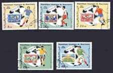 Football Mauritanie (54) série complète 5 timbres oblitérés