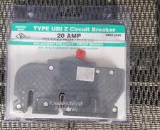 Zinsco Type Ubi Z Circuit Breaker 20Amp Two Single Poles Ubiz-2020