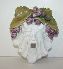 La Torre Pottery Hand Crafted Mythical Man with Grapes on Head Wall Hanging
