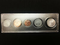 Rare WW2 German Coins Set with Secure Display Case Historical WW2 Artifacts