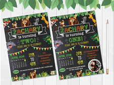 10 Personalised Jungle Animal Farm Birthday Party Invites Invitations PHOTO