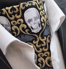 Foulard DA COLLO ascot Steampunk Gotico/Punk Teschio Foulard da Collo 2/Hanky. Premium Cotone Fatta in UK