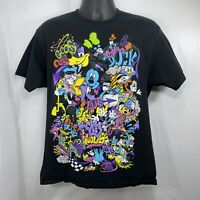 Walt Disney World Unisex Large T Shirt Mickey Mouse Hip Hop Goofy Pluto Donald