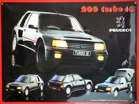 PLAQUE METAL vintage PEUGEOT 205 TURBO 16 - 40 x 30 cm