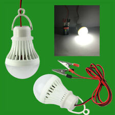 12W LED 9 - 90V DC Light Bulb Emergency Hanging Lamp 3m Cables + Crocodile Clip