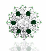 Luxury Distinctive Sparkle Flower Snowflake Hollow Corsage Party Brooch Pin