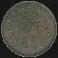 1918 Italy 20 Centesimi Overstruck On KM#28 | European Coins | Pennies2Pounds