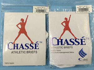 Chasse Athletic Briefs Youth Adult Sm-Lg C-dri Nylon Female Activewear White NIP