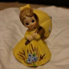 George good corporation Figurine Yellow Dress Umbrella Josef Original