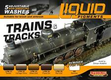 Lifecolor LFC-LP5 Trains & Tracks Railway Weathering Liquid Pigments Set