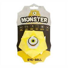 Pet Brands Monster Treat Release Dog Toy Yellow | Dispenser Glow in dark Bouncy