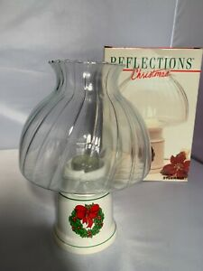 Reflections Christmas Wreath Holiday Candle Lamp Holder Home Decoration in Box