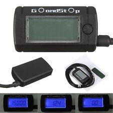 Blue Voltmeter Tachometer 1H Meter Max RPM LCD Digital Display Motorcycle Bike