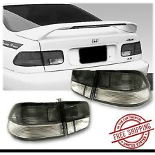 Tail Light Set For Honda Civic 2 Door Coupe 1996 2000 Smoke Clear 4 Pcs