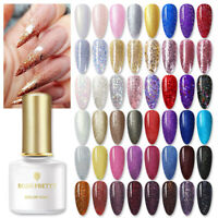 BORN PRETTY 6ml Soak Off UV Gel Nail Polish Glitter Sequins Nail Art Varnish DIY