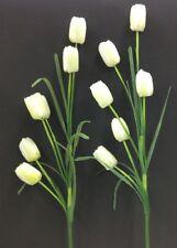 """Tulip Spray Stems~White/Cream~(2 Per Order)~36"""" T~Silk/Artificial"""