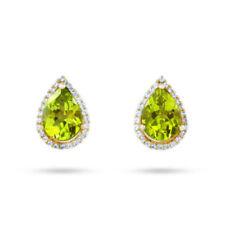 Pendientes de joyería con gemas verdes sin tratar