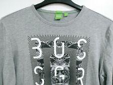 HUGO BOSS Green Label Men's L Large Modern Fit Long Sleeve T-Shirt Graphic Tee