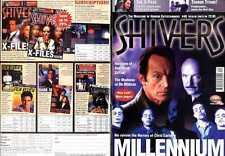 SHIVERS MAGAZINE #40 MILLENIUM POSTER, TERRY NATION, GEORGE ROMERO,  P J SOLES