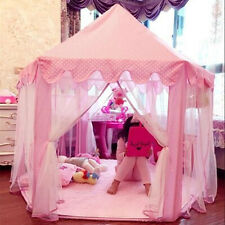 Children Kids Princess Prince Castle Play House Tent Girls Boys Indoor  K