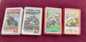 4 Quartettspiele Motorräder