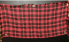 100% Cotton Tartan Pattern Men Women Square Check Plaid Red Black Scarf Scarves